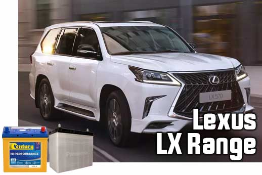 Replacement car battery for Lexus in Sydney and Melbourne