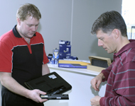 Fitting a laptop battery