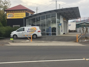 Every Battery Launceston store front