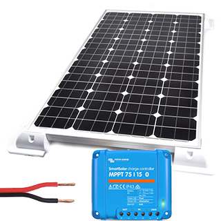 Buy 120w Solar Kit Including Panel Regulator Mounts And Cable Caravan Kits