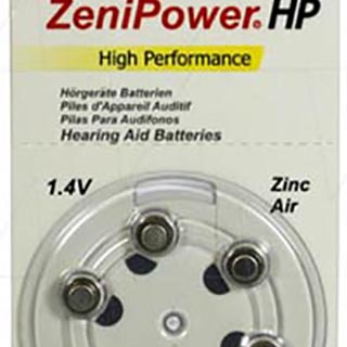 Zenipower A10 Hearing Aid Battery (Pack of 6)