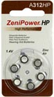 Zenipower A312 Hearing Aid Button Cell Aid Batteries (Pack of 6)