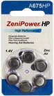 Zenipower A675 Hearing Aid Button Cell Aid Batteries (Pack of 6)