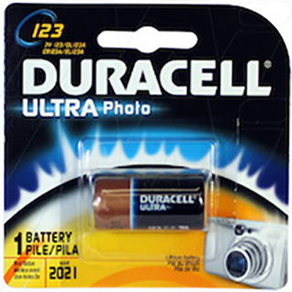 Duracell Ultra Lithium battery replaces CR123A, EL123A, K123L
