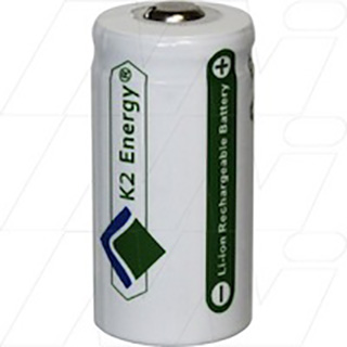 K2 Energy Lithium Iron Phosphate rechargeable 123A battery