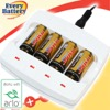 Tenergy 4 Cell LiIon 16340 (RCR123A) 400mA Charger for Netgear ARLO VMC3030 Products. Includes 4 x 3.7V 650mA R123A Batteries.
