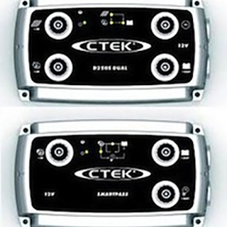 CTEK D250S Dual DC to DC Battery Charger and SMARTPASS (Bundle)