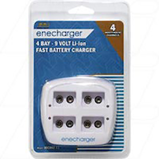 Enecharger Smart Charger for 4 x Lithium Ion 9V batteries