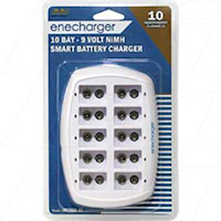 Enecharger 10 Bay Fast Automatic 9V size NiMH Battery Charger