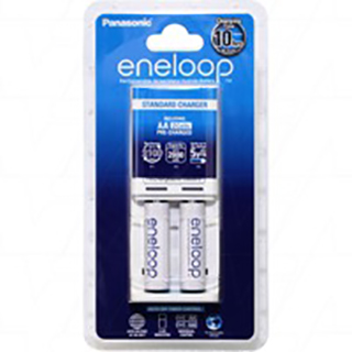 1 or 2 AA/AAA cell Battery Charger including 2 x Panasonic Eneloop AA batteries