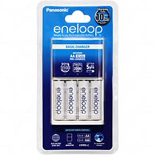 2 or 4 AA/AAA Cell Battery Charger including 4 x Panasonic Eneloop AA batteries