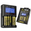 XTAR VC4 1-4 Cell Lithium Ion / NiMH Battery Charger with USB Input and LCD Display