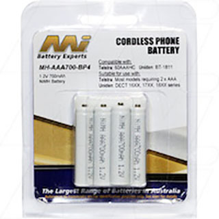 700 mAh NiMH AAA Battery - Extended Nipple