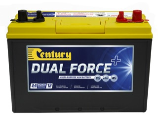 Century Dual Force 12V 90Ah Left Polarity Dual Purpose Battery