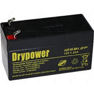 12SB1.2P Drypower 12V 1.2Ah SLA Battery