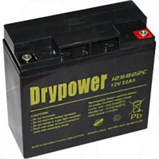 Drypower 12V 22Ah Sealed Lead Acid Battery