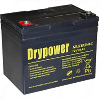 Drypower 12V 34Ah Sealed Lead Acid Battery