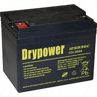 Drypower 12V 36Ah Sealed Lead Acid Battery