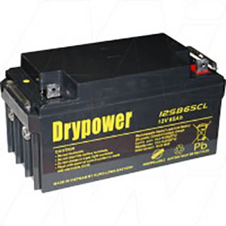 Drypower 12V 65Ah Sealed Lead Acid Battery