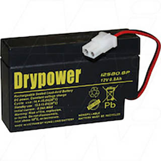 Drypower 12Volt 0.8Ah Sealed Lead Acid