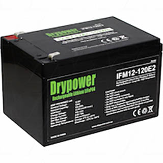 Drypower 12.8V 12Ah Lithium Iron Phosphate Rechargeable Battery