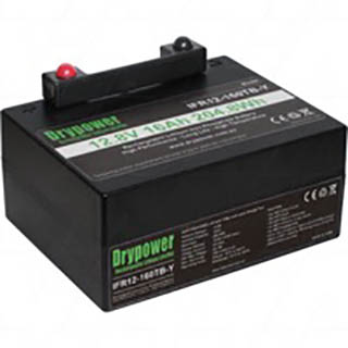 Drypower 12.8V 16Ah Lithium Iron Phosphate (LiFePO4) Rechargeable Lithium Golf Buggy Battery
