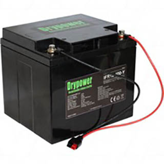 Drypower 12.8V 40Ah Lithium Iron Phosphate (LiFePO4) Rechargeable Lithium Golf Buggy Battery