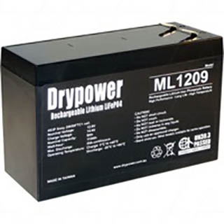 Drypower 12.8V 9.0Ah Lithium Iron Phosphate Rechargeable Battery