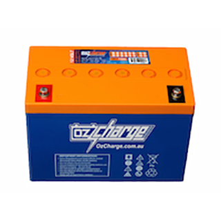 Oz Charge 12V 100Ah AGM Deep Cycle Solar Battery