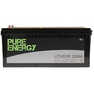 Pure Energy  LiFePO4 12V/200Ah Deep Cycle Lithium Battery