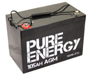 Pure Energy AGM deep cycle battery