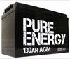 Pure Energy 12V 130Ah AGM Deep Cycle Battery