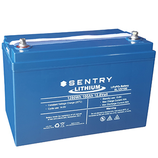 Buy Sentry 12v 100ah Lithium Deep Cycle Battery With