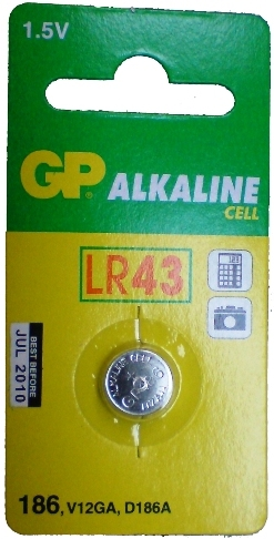 GP 186 LR43 Coin Cell Battery