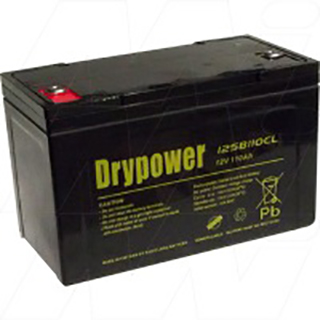 Drypower 12V 110Ah Sealed Lead Acid Battery