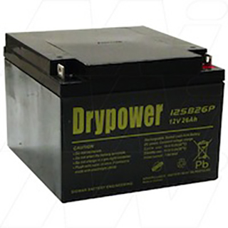 Drypower 12V 26Ah Sealed Lead Acid Battery