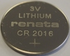CR2016 Lithium 3V Coin Cell