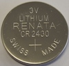 CR2430 Lithium 3V Coin Cell
