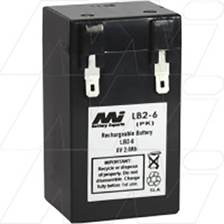 LB2-6 Sealed Lead Acid Battery