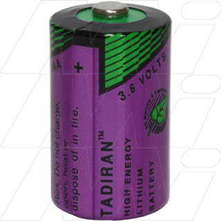 TLL-5902/S 1/2AA size Tadiran Lithium 3.6V Thionyl Chloride Battery - Bobbin Type