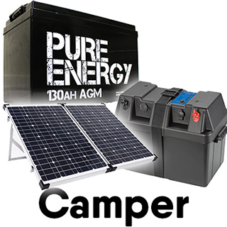 The Camper Off-grid Battery Deal: Battery + Box + Solar Panel